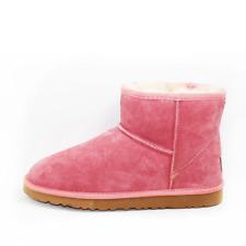 Unisex Australian Sheepskin Water Resistant Ankle Ugg Boot - Pink