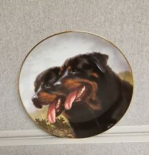 Danbury Mint Rottweiler Collector Plate DYNAMIC DUO by John Silver