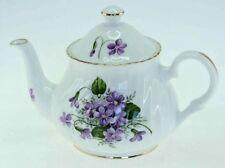 Violet Marlborough Staffordshire Fine Bone China 2 Cup Teapot