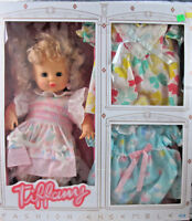 Cititoy 1990 Tiffany Fashion Ensemble Doll + Dresses