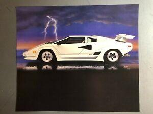 1988 Lamborghini Countach Coupe Picture, Print, Poster RARE!! Awesome L@@K