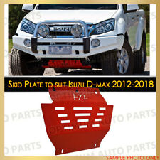 RED Bash Skid Plate Guard Engine Protector for Isuzu D-max Dmax 2012-2018