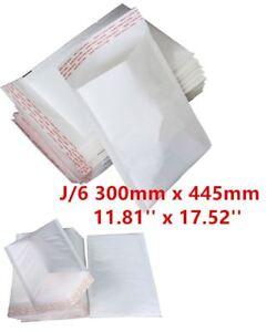 50 J/6 J6 White Strong Padded Bubble Postal MAIL Envelopes LITE 300x445mm UK
