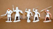 Vintage Marx Primed Unpainted Customized Viking Warrior Plastic Figures