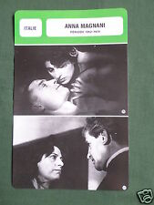ANNA MAGNANI - MOVIE STAR - FILM TRADE CARD - FRENCH
