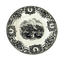 Collector Cabinet Plate Napoleon Bonaparte  Combat de Denhout   Boch Belgium
