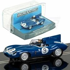 Scalextric Jaguar D-Type #9 Nurburgring 1957 DPR w/ Light 1/32 Slot Car C3730