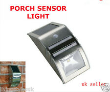 SW Solar Powered Bright Led Wireless PIR Motion Sensor Security Shed Wall Light