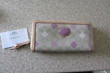 Coach  Coated Canvas Zip Clutch Wallet ~ New  Without Tags