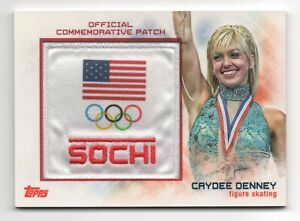 2014 Topps USA Olympic Team Commemorative Sochi Patch Caydee Denney Skating