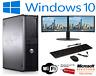 FULL DELL/HP DUAL CORE/AMD DESKTOP TOWER PC&TFT COMPUTER , WINDOWS 10 &8GB 3TB