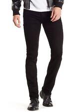 7 For All Mankind Men's Slimmy Slim Straight Leg Jeans Zip Fly Denim True Black