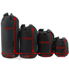 4pcs Neoprene Lens Soft Camera Pouch/Case Set Size: S M L XL