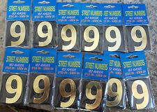 bulk pkt of a dozen no 9 (6)  House Numbers, Letterbox Numbers - Self Adhesive