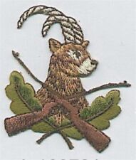 Impala Antelope Rifle Hunting Embroidery Applique Patch