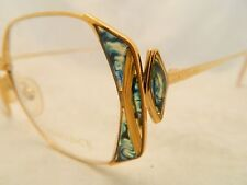 Vintage Romance by Art Design Bico Eyeglasses Mod 300 Germany Gold & Emerald