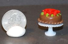 Dollhouse Miniature Cake on Cake Stand C 1:12 one inch scale H125 Dollys Gallery