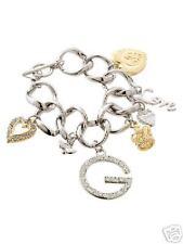 GUESS Argente Dore Strass G Logo Bracelet Gourmette