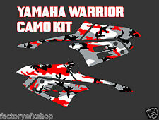 Yamaha Warrior 350 Red Camo Gas Tank Graphics decals sticker plastics camouflage