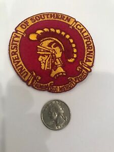 "USC Southern Cal Trojans Embroidered Iron On Patch 3"" X 2"""