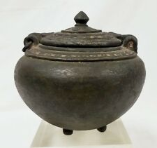 Early Antique Cast Bronze Vessel Pot Roman India African not sure of origin