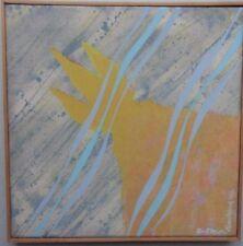 Alan Madera B1935 (Canadá) Original Firmado Óleo sobre lienzo 1969 'para Fleur Cowles's
