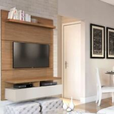 Floating Entertainment Center Wall Unit TV Stand Flat Screen 42 Inch Mount Brown