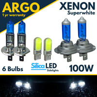 For Renault Clio MK3 Headlight 2005-12 Xenon Led White High Low Side Light Bulbs