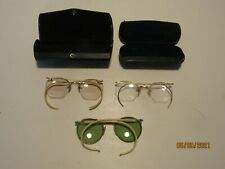 3 Vintage Eye Glasses, 2 Have Wire Frames and 2 are 1/10-12 K Gold Filled