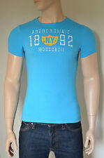 NEW Abercrombie & Fitch Summit Rock Turquoise NY Badge Tee T-Shirt S