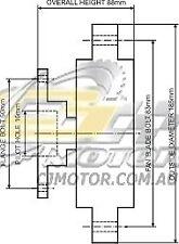 DAYCO Fanclutch (CCW) FOR Ford F250 1987 - 1992 5.8L V8 16V EFI Ambulance C