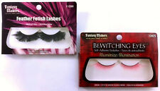 Fantasy Makers Wet N Wild Feather Eyelashes For Halloween Party, 2 Pairs Mix