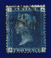 1876 SG47 2d Deep Blue Plate 15 G3(2) AI Twin CDS Blunt Cnr perf GU Cat £38 ceay