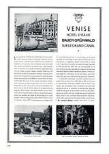 Venedig Hotel D´Italie Canal Grande XL Reklame 1929 Bauer Grünwald Werbung +