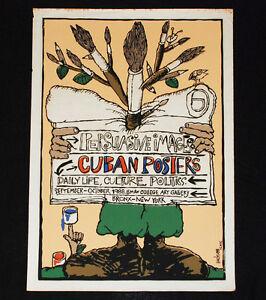 "1988 Original Cuban Movie Poster""Persuasive Images""New York daily life art."