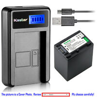 Kastar Battery LCD Charger for Sony NP-FH100 & Sony HDR-SR70 HDR-SR8 HDR-SR80