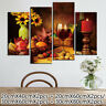 4Pcs/set  Wall/Art Home Picture Print Decor Red Wine Modern Canvas Oil Painting