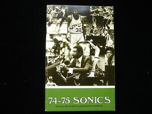 1974-75 Seattle Supersonics NBA Basketball Yearbook