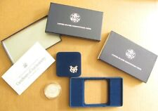 1987 $1 Silver Dollar U.S. Constitution Commenorative COA Box Plastic Protector