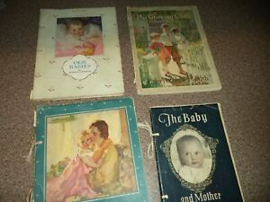 Vintage 1928 BABY BOOKS ~ 4 LOT ~ THE BABY & THE MOTHER ~ GROWING CHILD ~ 1920's