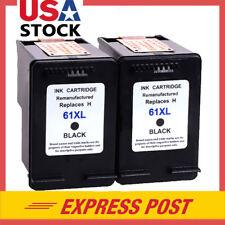 2PK For HP 61XL Black Ink Cartridges for HP Deskjet 1000 1050 1051 2050 Series