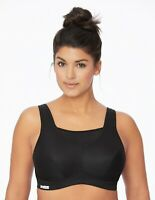 ALL SPORT $43 Bra 36F 36 F (Wicks-U-Dry!) CAMISOLE Cami WIDE-STRAPS Black NEW