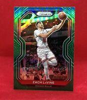 2020-21 Panini Prizm Zach LaVine #234 Base Green Prizm SP Chicago Bulls