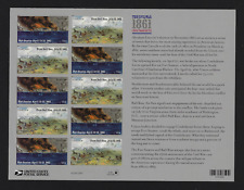 US Stamps — Full Pane of 12 (Forever) — 2011, The Civil War of 1861 #4522-23 MNH