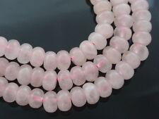 1 Strand Pink Rose Quartz Abacus Beads 8mm x 5mm, Gemstones Semi Precious Stones