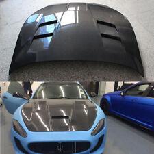 Front Engine Hood Cover Refit Fit for Maserati GranTurismo 2008-13 Carbon Fiber