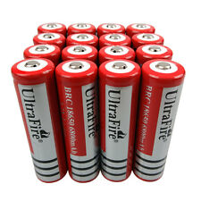 16X 18650 6800mAh 3.7V Li-ion Rechargeable Battery for Flashlight Torch LED Fish