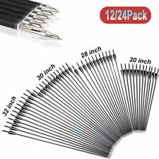 """12/24Pcs Archery Hunting 32"""" Carbon Arrows for Compound Recurve Bow Broadhead"""