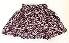 Womens H&M H M Skirt- Leopard Animal Print Skirt, Neon Pink White Black, Size 4