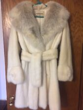 White real mink fur coat/jacket fox color sizeS/M Very good cond.! Beautifull !